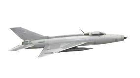 Aviones de la caza a reacción del vintage aislados Fotos de archivo libres de regalías