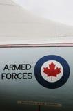 Aviones de la fuerza aérea canadiense real Fotografía de archivo libre de regalías