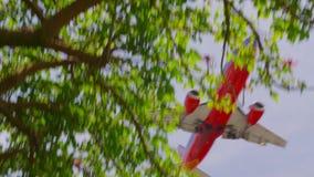 Aviones de la línea aérea que aterrizan el acercamiento de los aviones almacen de metraje de vídeo
