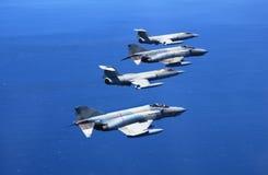 Aviones de la lucha Fotografía de archivo