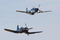 Aviones de la Segunda Guerra Mundial del vintage Foto de archivo libre de regalías