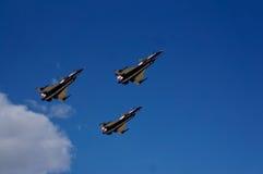 Aviones de las acrobacias aéreas del grupo Foto de archivo
