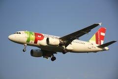 Aviones de las líneas aéreas de TAP Portugal imagen de archivo