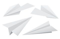 Aviones de papel Fotos de archivo