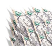 Aviones de papel del dinero Imagen de archivo libre de regalías
