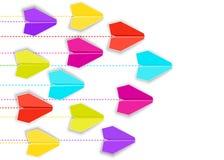 Aviones de papel del vector aislados en el fondo blanco stock de ilustración