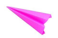 Aviones de papel rosados de la papiroflexia Fotos de archivo