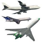 Aviones de pasajero aislados fotografía de archivo libre de regalías