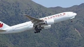 Aviones de pasajero de Air Canada imágenes de archivo libres de regalías