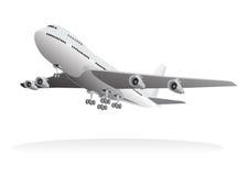 Aviones de pasajero que salen de la tierra Fotografía de archivo
