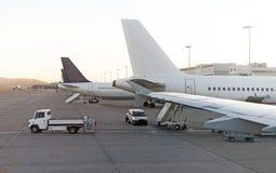 Aviones de pasajeros Fotografía de archivo
