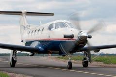 Aviones de Pilatus PC-12s Imagen de archivo