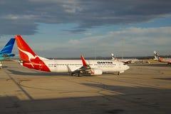 Aviones de Qantas Foto de archivo libre de regalías