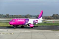 Aviones de Wizzair Foto de archivo libre de regalías