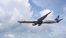Aviones del aterrizaje Imágenes de archivo libres de regalías
