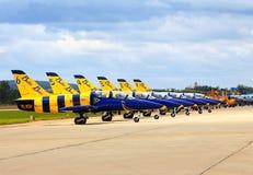Aviones del deporte en la demostración Foto de archivo libre de regalías