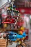 Aviones del juguete del metal Fotografía de archivo