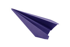 Aviones del papel azul de la papiroflexia Fotografía de archivo libre de regalías