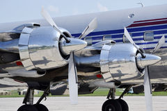 Aviones del propulsor del motor Fotografía de archivo libre de regalías