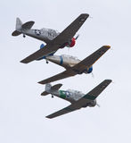 Aviones del Texan del vintage T-6 Imagen de archivo