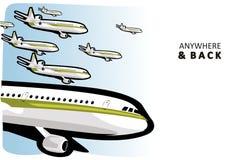 Aviones en el aire Fotos de archivo