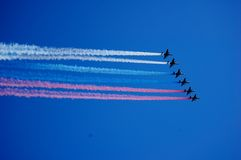 Aviones en el aire Foto de archivo