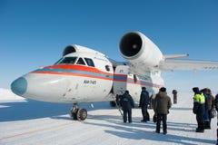 Aviones en el circuito del hielo Fotos de archivo
