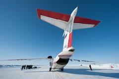 Aviones en el circuito del hielo Foto de archivo