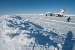Aviones en el circuito del hielo Fotografía de archivo