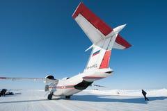 Aviones en el circuito del hielo Imagen de archivo libre de regalías