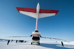 Aviones en el circuito del hielo Foto de archivo libre de regalías