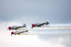 Aviones en la formación Foto de archivo libre de regalías