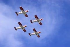 Aviones en la formación Fotos de archivo libres de regalías