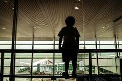 Aviones en la tierra Imágenes de archivo libres de regalías
