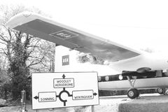 Aviones en un museo imagen de archivo