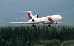 Aviones eslovacos Tu154M del gobierno Imagen de archivo