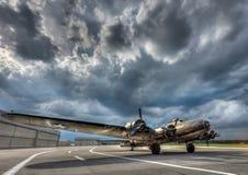 Aviones estupendos del vintage de la Segunda Guerra Mundial de la fortaleza B17 Fotografía de archivo