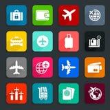 Aviones icons2 Imagen de archivo libre de regalías