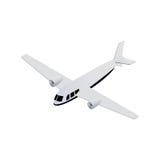 aviones isométricos del hidroavión Stock de ilustración