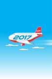 Aviones 2017_JAK-2 feliz Foto de archivo libre de regalías