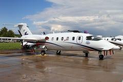 Aviones ligeros Piaggio del turbopropulsor aero- en el Aviat internacional Fotos de archivo libres de regalías