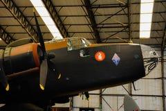 Aviones militares británicos del bombardero de Halifax Foto de archivo libre de regalías