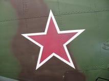 Aviones militares en la línea de Stalin Imagen de archivo libre de regalías