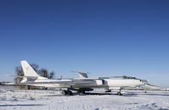 Aviones militares en museo de la aviación de Ucrania Fotografía de archivo