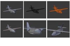 Aviones modelo en 3D Imagen de archivo libre de regalías