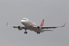 A320-214 aviones, 6000o A320 en la familia de Airbus Foto de archivo libre de regalías
