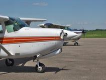 Aviones privados ligeros Imagen de archivo libre de regalías
