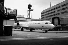 Aviones que esperan Fotos de archivo libres de regalías