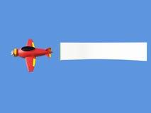 Aviones que tiran de la bandera del anuncio Fotos de archivo libres de regalías