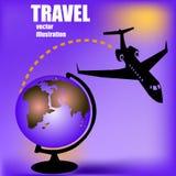 Aviones y globo stock de ilustración
